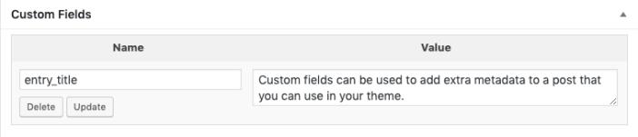 custom entry title using custom fields