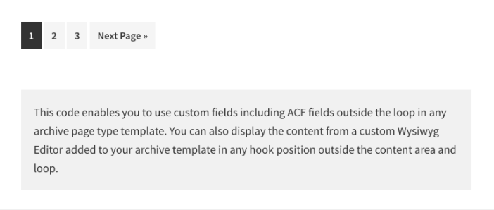 Custom Field After Loop Archive Page
