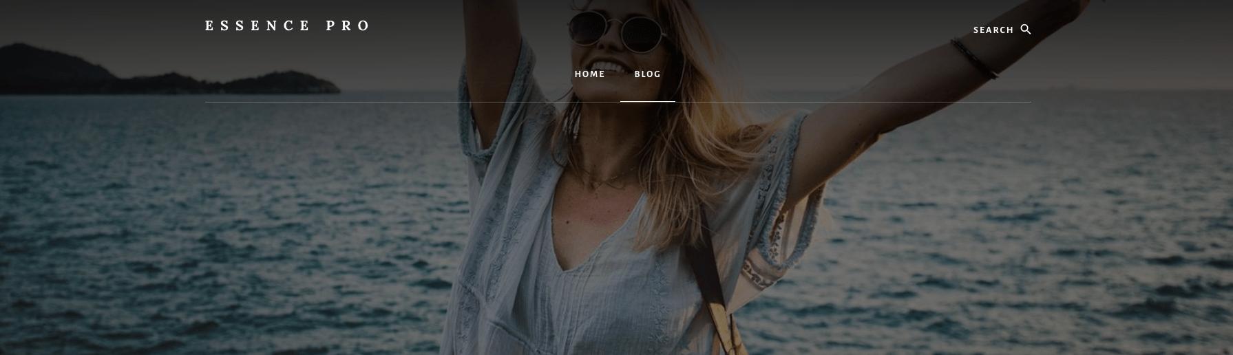 Remove Blog Page Title Essence Pro Theme