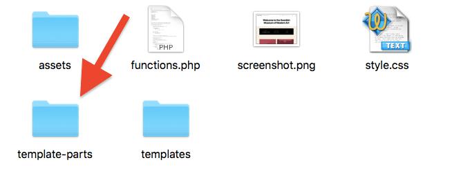 Template Parts Folder