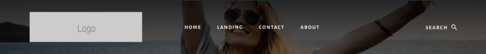 Essence Pro Menu Logo Search On Same Line