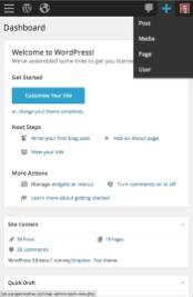 WordPress 3.8 - Mobile Dashboard (Add New)