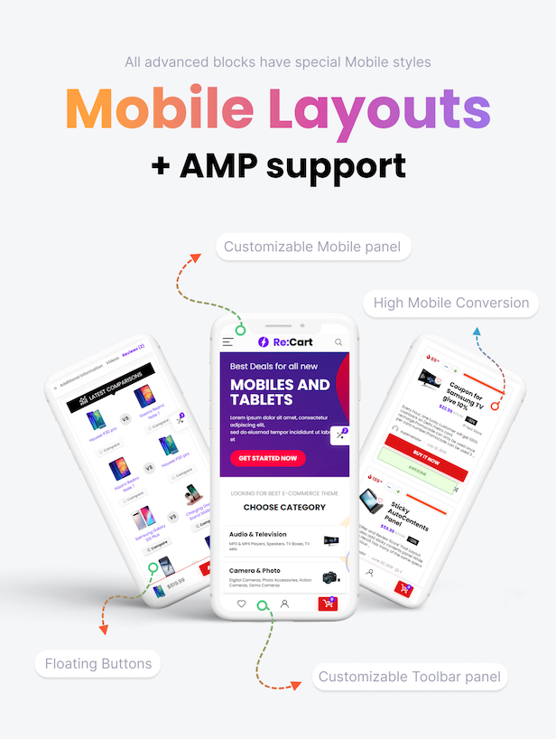 Special Mobile layouts and AMP