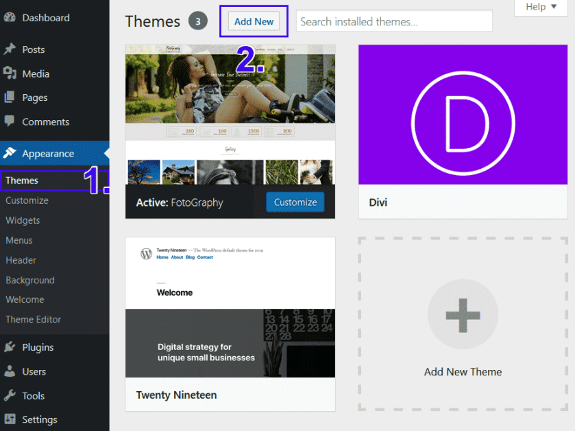 WordPress New Theme