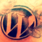 WordPress Logo Tattoo