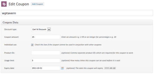WooCommerce Coupon Management