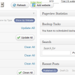 ManageWP Dashboard After I Added The WPTavern Website