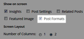 Hide Post Formats