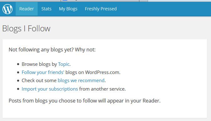 WordPress.com Reader Tab