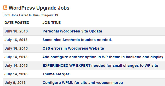 WP Jobs Website