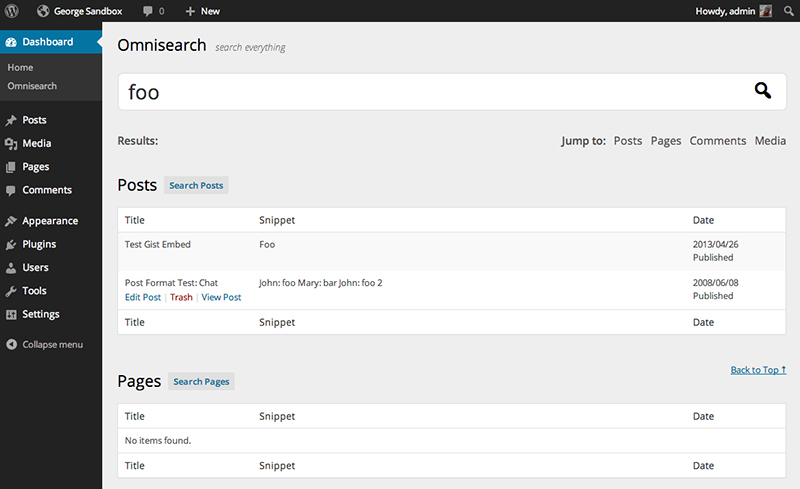 Omnisearch Plugin
