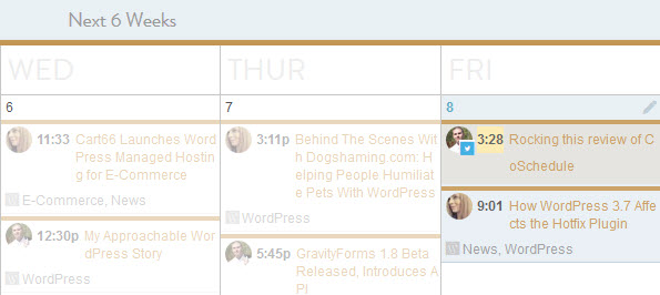 CoSchedule Interface Colors