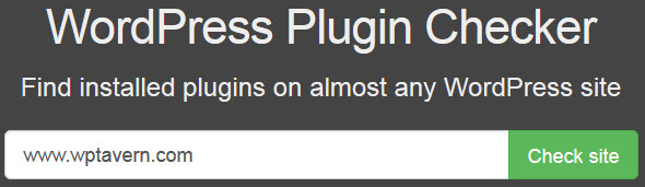 WordPress Plugin Checker
