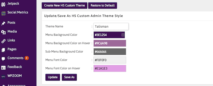 Create Custom Admin Color Schemes Directly Within WordPress