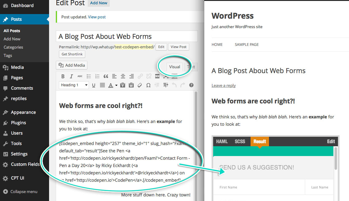 CodePen Releases Official WordPress Plugin – WordPress Tavern