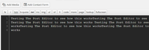 WordPress Text Editor Using Lesser Dark Theme