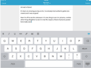 WordPress For iOS Keyboard