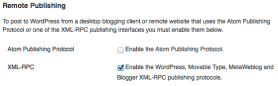 XML RPC Settings In WordPress