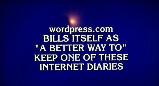 WordPress.com Featured On Jeopardy