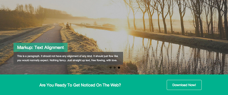 Dazzling: A Free Flat Design WordPress Theme Based on Bootstrap