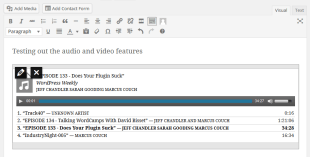 Audio Playlist In The Visual Editor Of WordPress 3.9