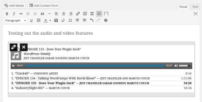 Audio Playlist In The Visual Editor Of WordPress 3.9
