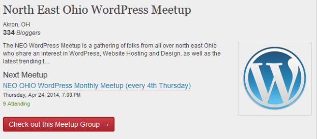Meetup Group Homepage Embedded In A Post