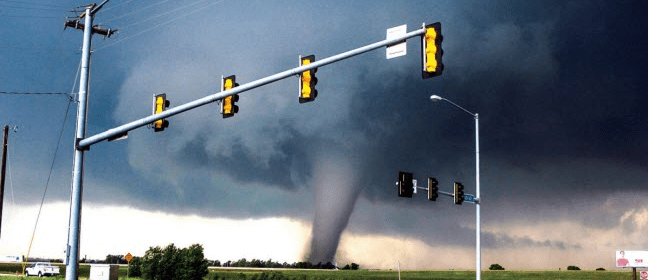 Early Stages Of The Moore, OK, EF5 Tornado In 2013
