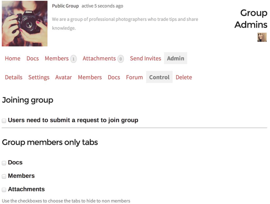 group-admin-control