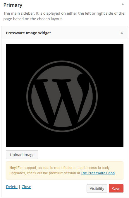 Assigning An Image To Pressware Image Widget