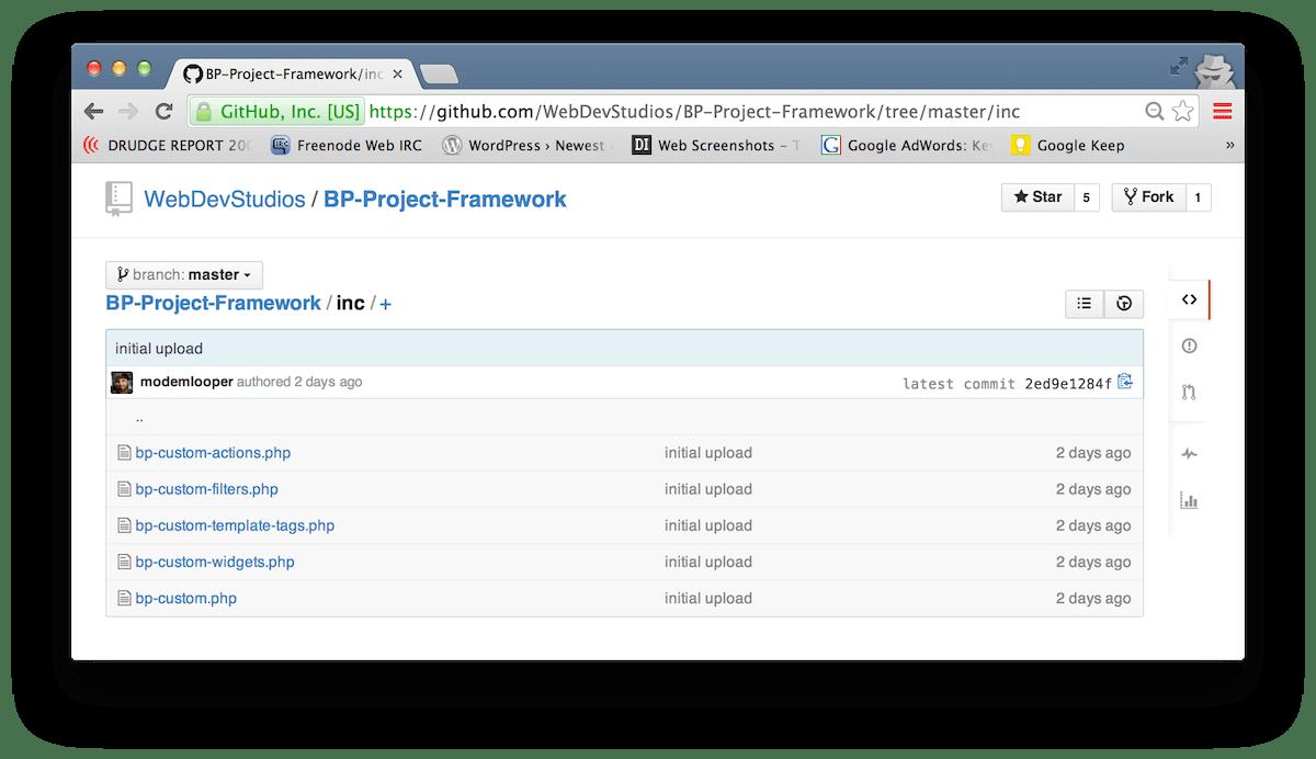 Bp Project Framework A Boilerplate For Custom Buddypress Projects