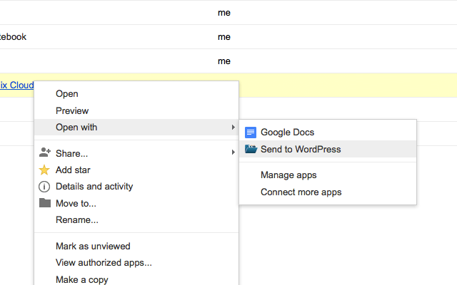 Send to WordPress: Chrome Extension Exports Google Docs to