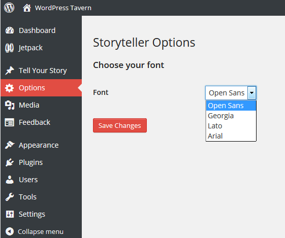 Storyteller Options