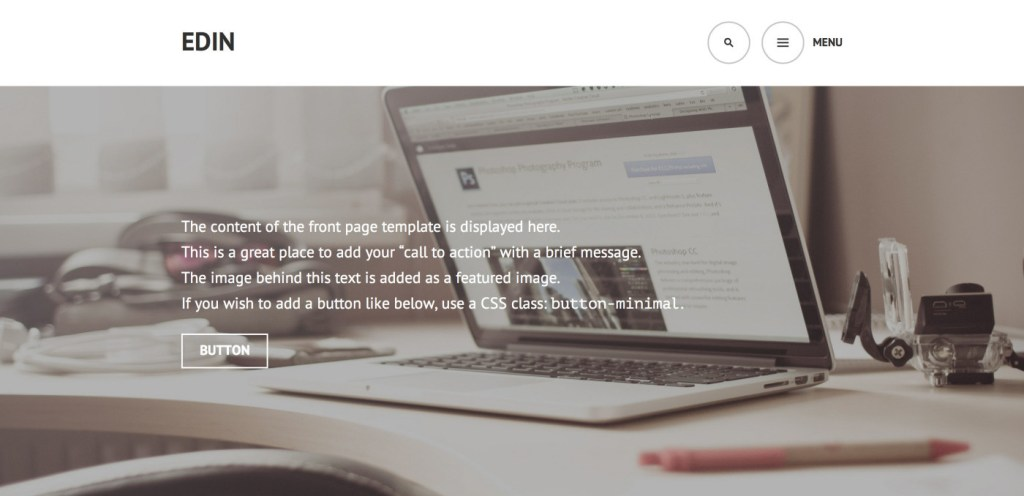 Edin: A Beautiful Free Business Theme for WordPress