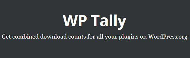 WP Tally Featured Image