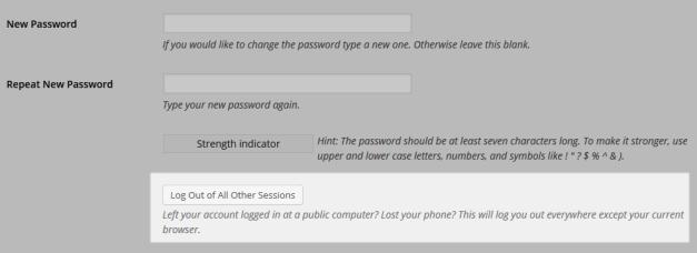 WordPress Session UI