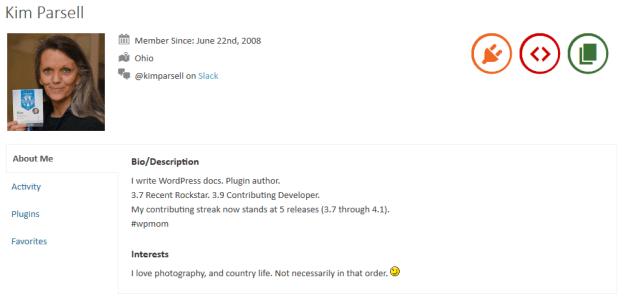 Kim Parsell's WordPress.org Profile