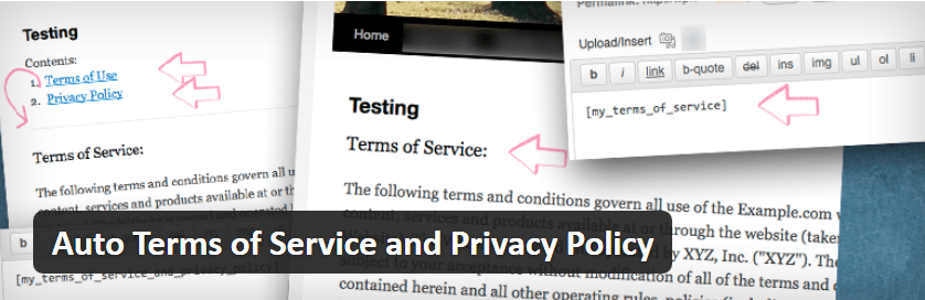 Auto Terms of Service Plugin Featured Image