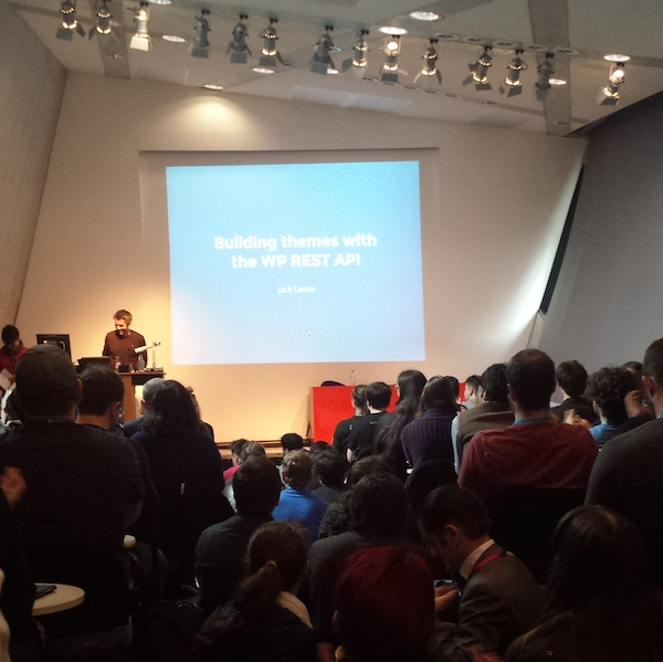 Building Themes with the WP REST API session from Jack Lenox
