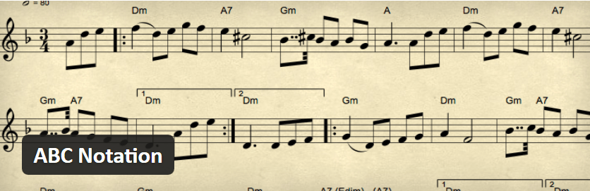 Display Sheet Music in WordPress With the ABC Notation Plugin