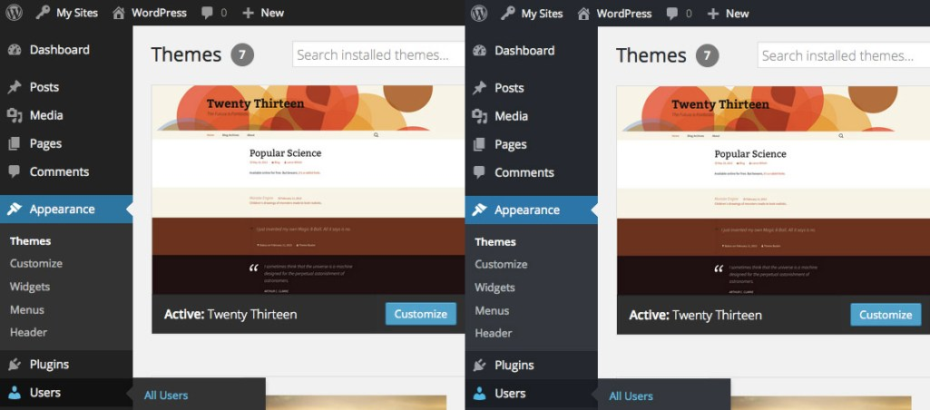 WordPress 4.2 Introduces Subtle Refinements to the Default Admin Color Scheme