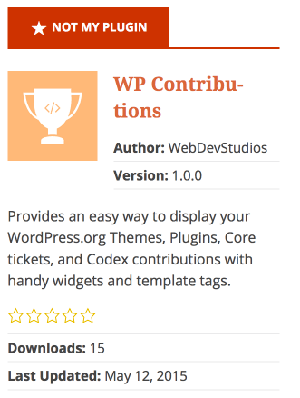 WP Contribution Plugin Widget