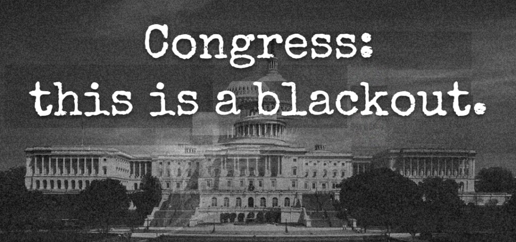 Fight for the Future Leads Congress Blackout Campaign to Protest the Patriot Act