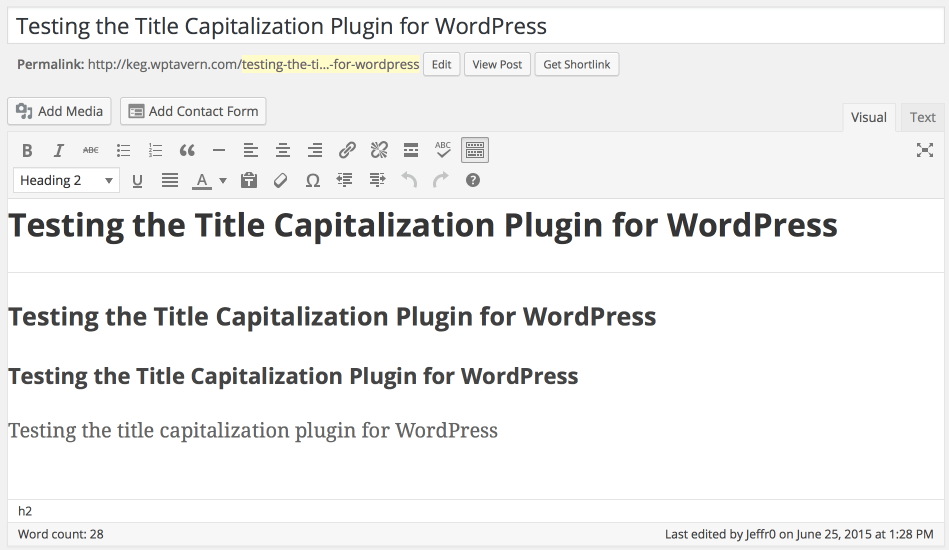 Rules for Capitalization in a Title