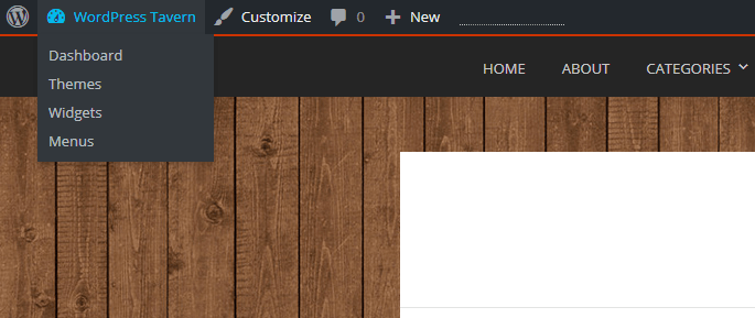 Customize Menu in WordPress 4.3 Featured Image