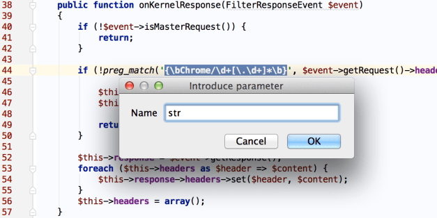 New in PhpStorm 9: Introduce parameter refactoring
