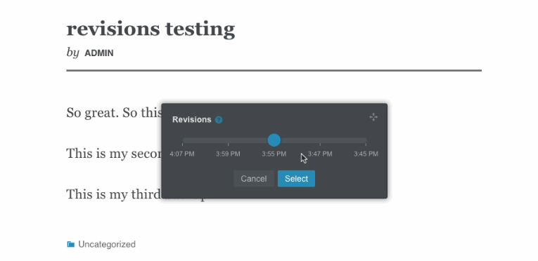 Lasso Adds Real Time Revision Restoring to WordPress