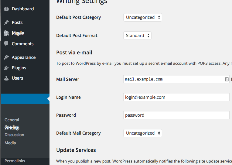 Chrome WordPress Admin Menu