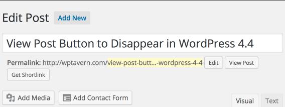 WordPress 4.3 Post Editor