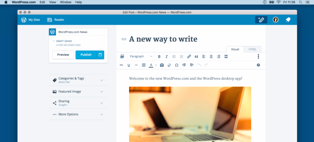 WordPress.com Open Sources Desktop App, Linux Version Now Available